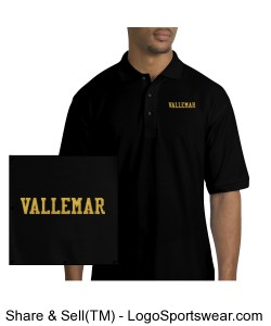 Adult polo black Design Zoom